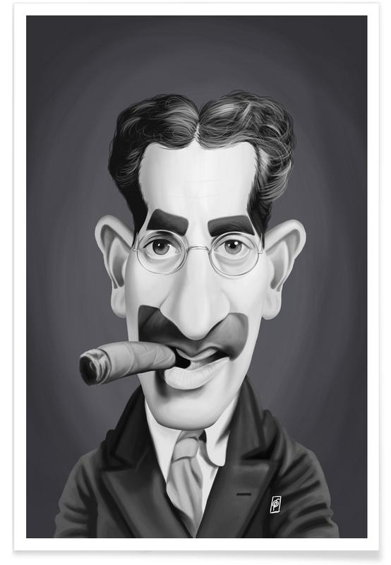 Groucho Marx Caricature Poster
