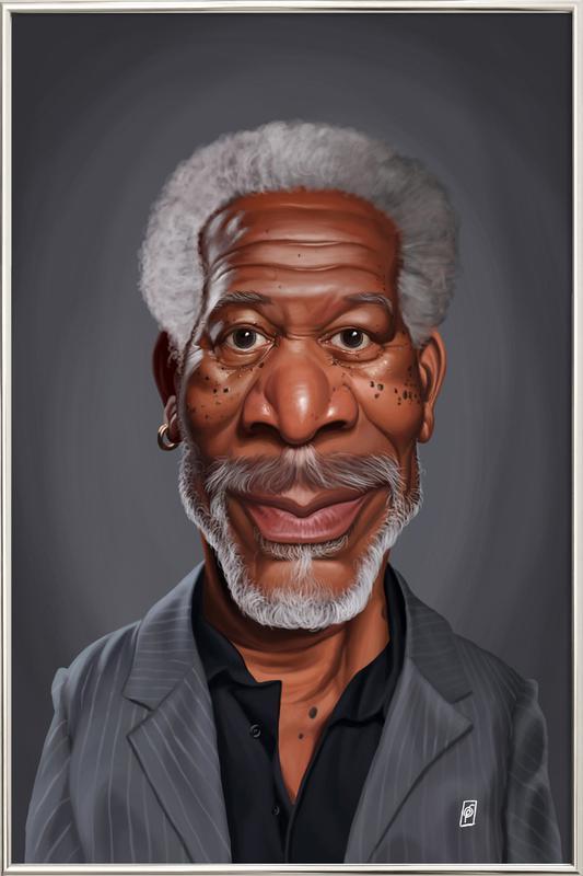 Morgan Freeman Poster in Aluminium Frame