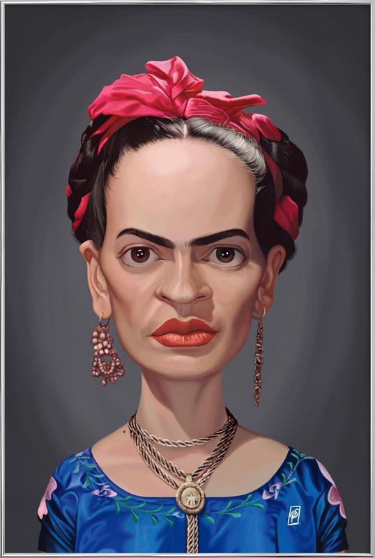 Frida Kahlo Poster in Aluminium Frame