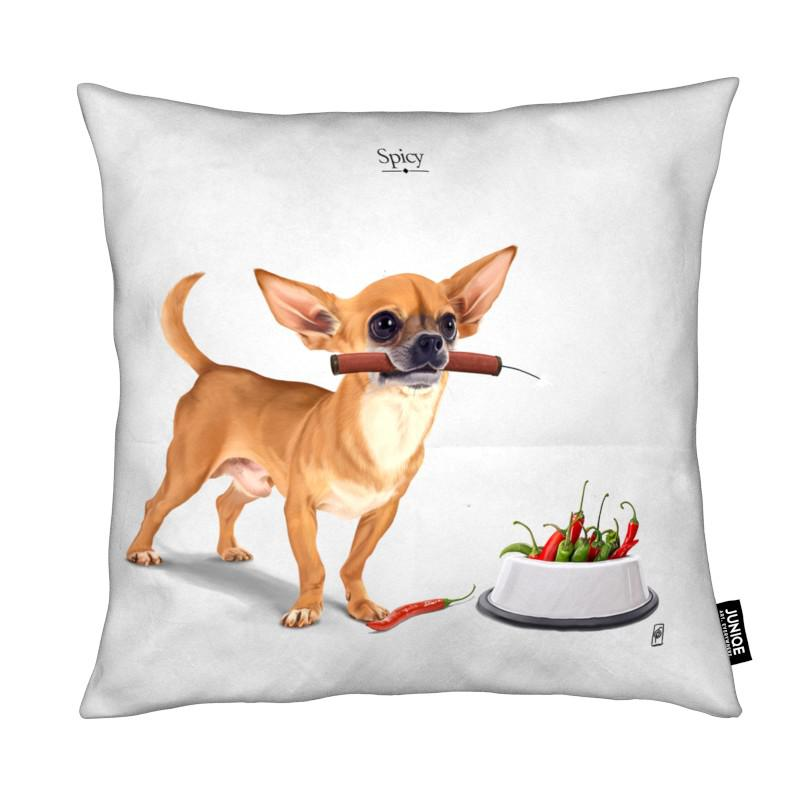 Chiens, Humour, Spicy coussin