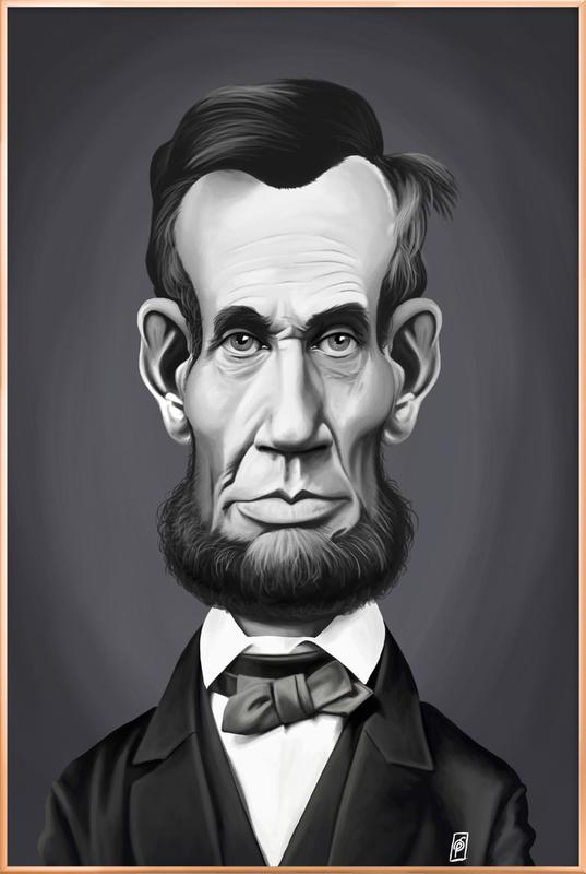 Abraham Lincoln Poster in Aluminium Frame