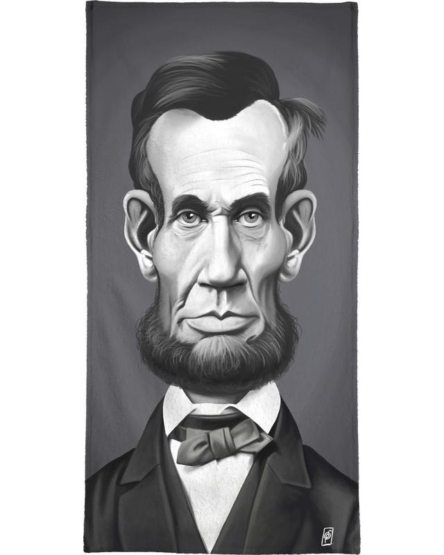 Portraits, Personnages politiques, Noir & blanc, Abraham Lincoln serviette de bain