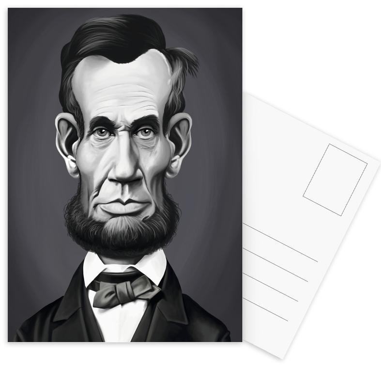 Zwart en wit, Politieke figuren, Portretten, Abraham Lincoln ansichtkaartenset