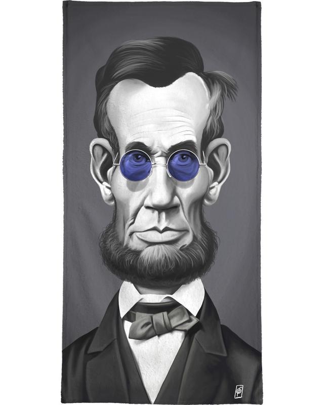 Portraits, Personnages politiques, Noir & blanc, Abraham Lincoln Steam serviette de bain