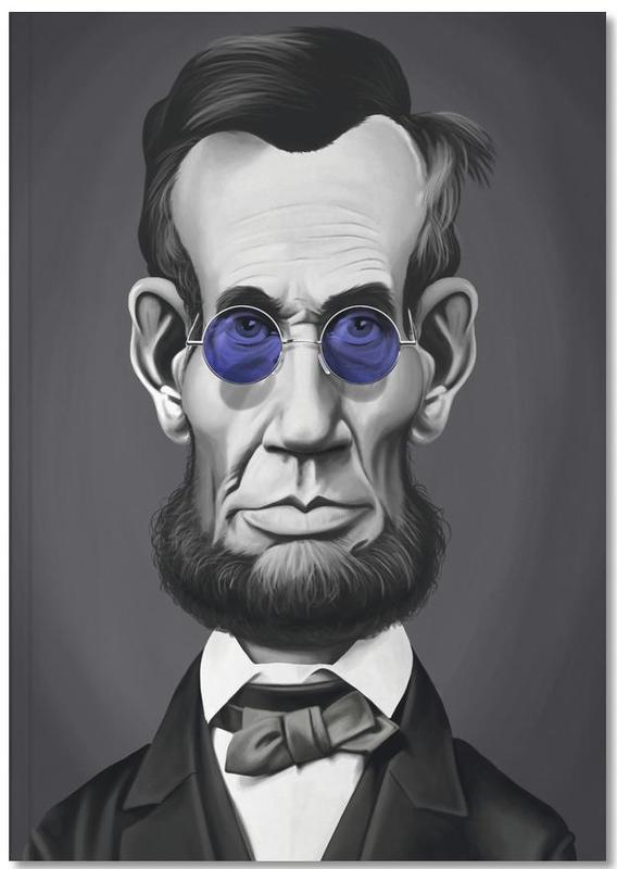 Porträts, Politische Figuren, Schwarz & Weiß, Abraham Lincoln Steam Notebook