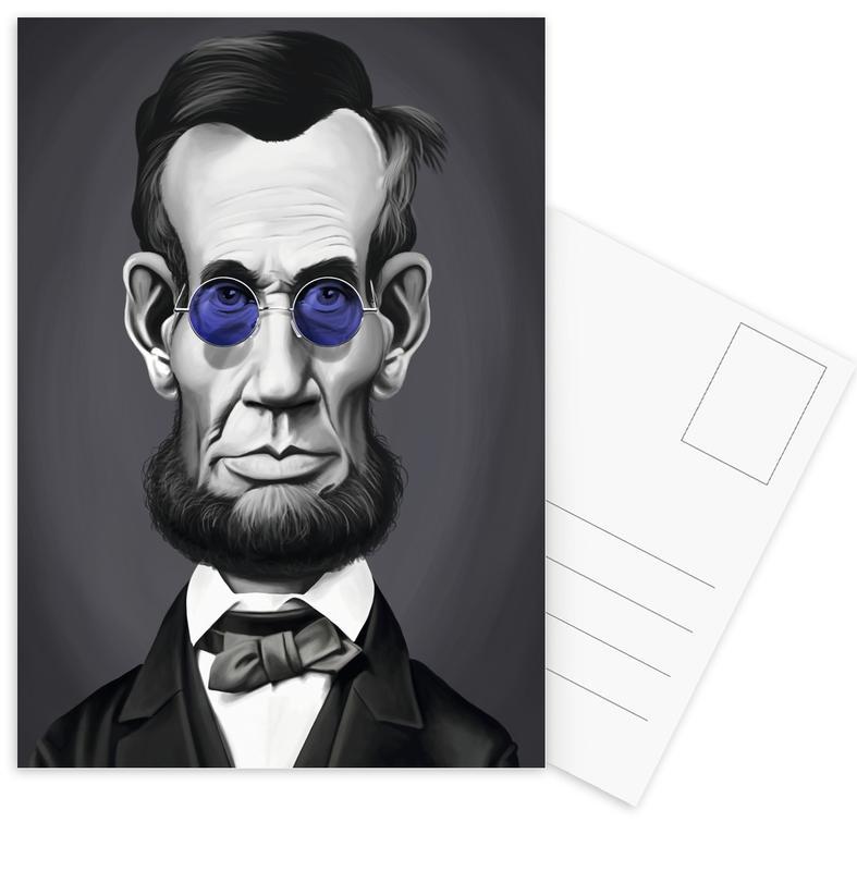 Noir & blanc, Personnages politiques, Portraits, Abraham Lincoln Steam cartes postales