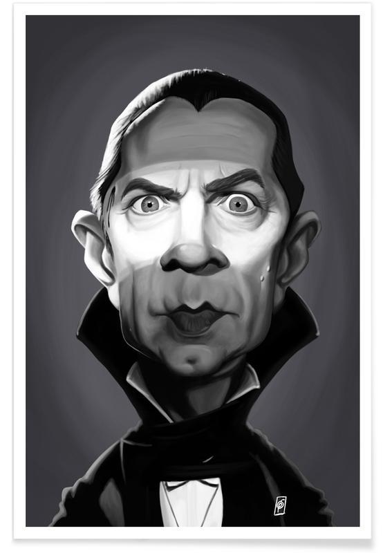 Bela Lugosi Caricature Poster