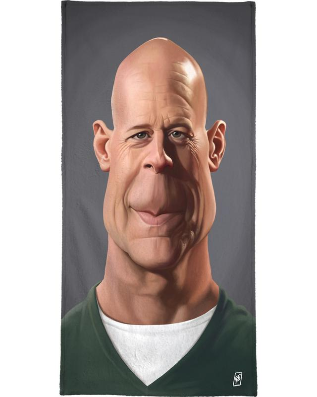 Bruce Willis -Strandtuch