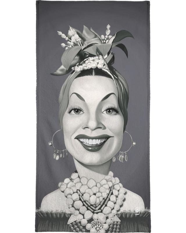 Carmen Miranda -Strandtuch