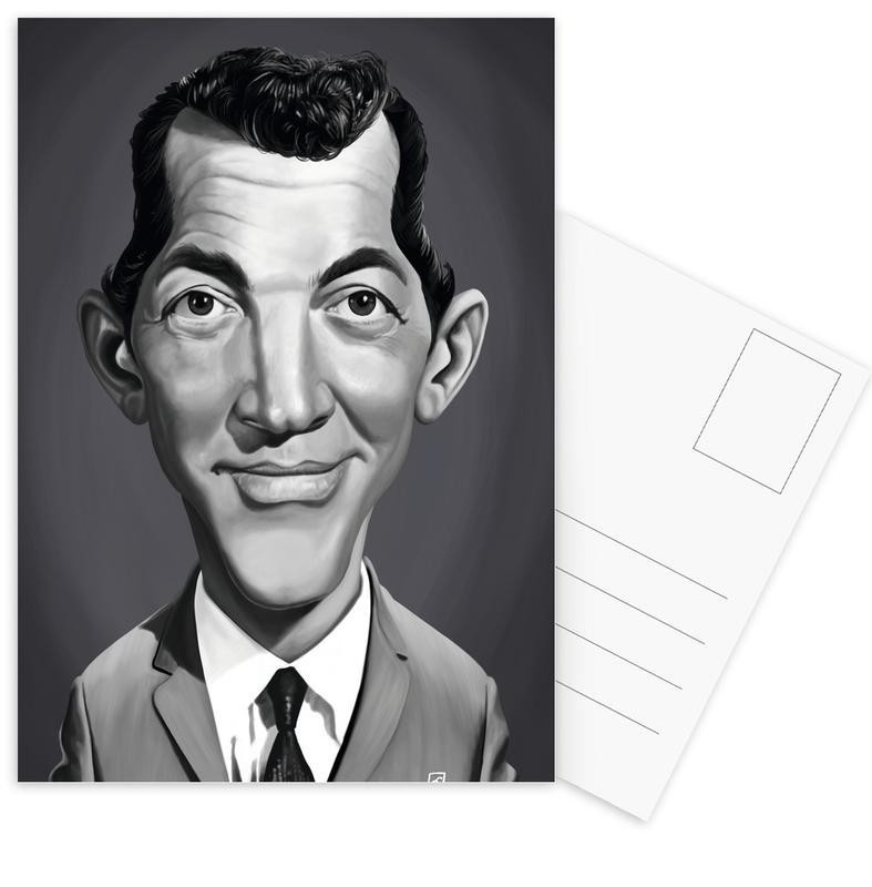 Zwart en wit, Portretten, Dean Martin ansichtkaartenset