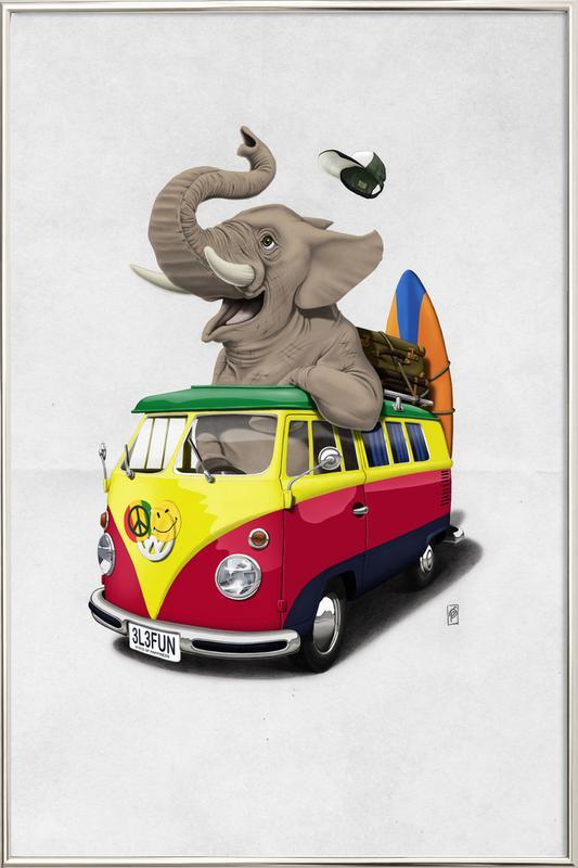 Pack the trunk Poster in Aluminium Frame