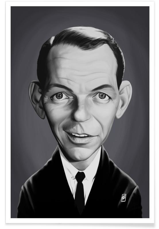 Frank Sinatra Caricature Poster