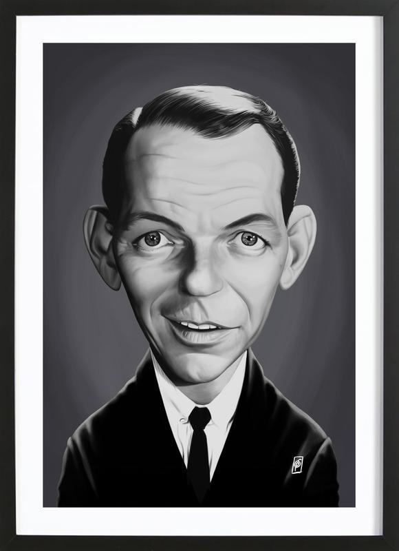 Frank Sinatra ingelijste print