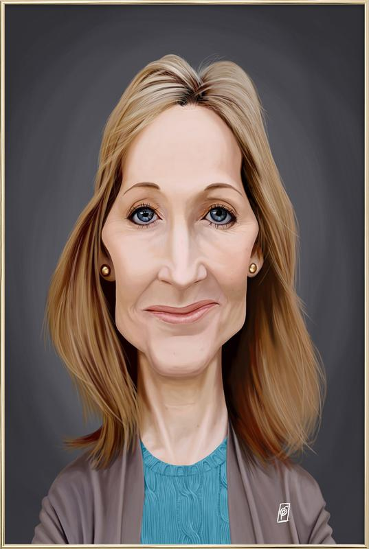J.K. Rowling Poster in Aluminium Frame