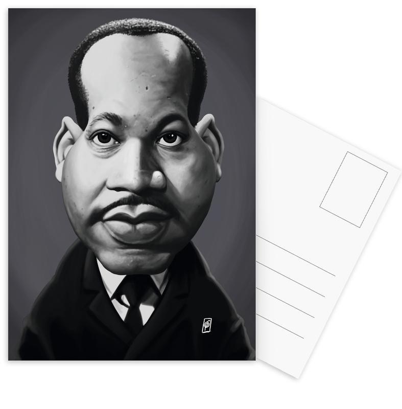 Noir & blanc, Personnages politiques, Portraits, Martin Luther King cartes postales