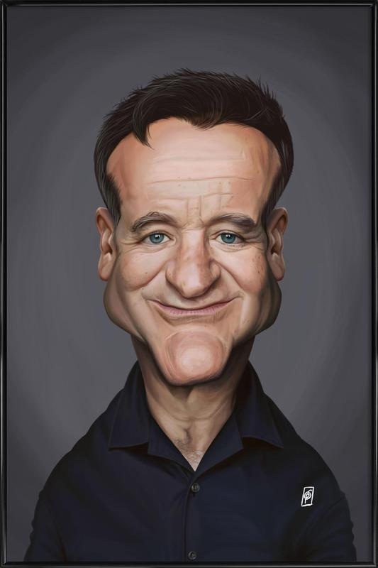 Robin Williams ingelijste poster