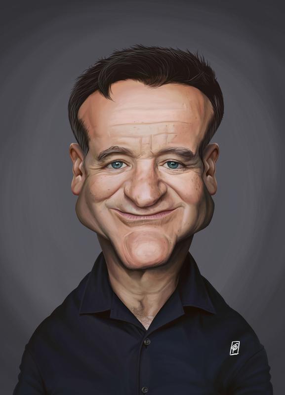 Robin Williams canvas doek