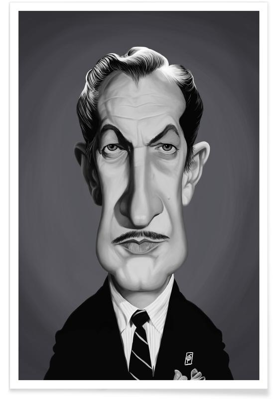 Vincent Price Caricature Poster