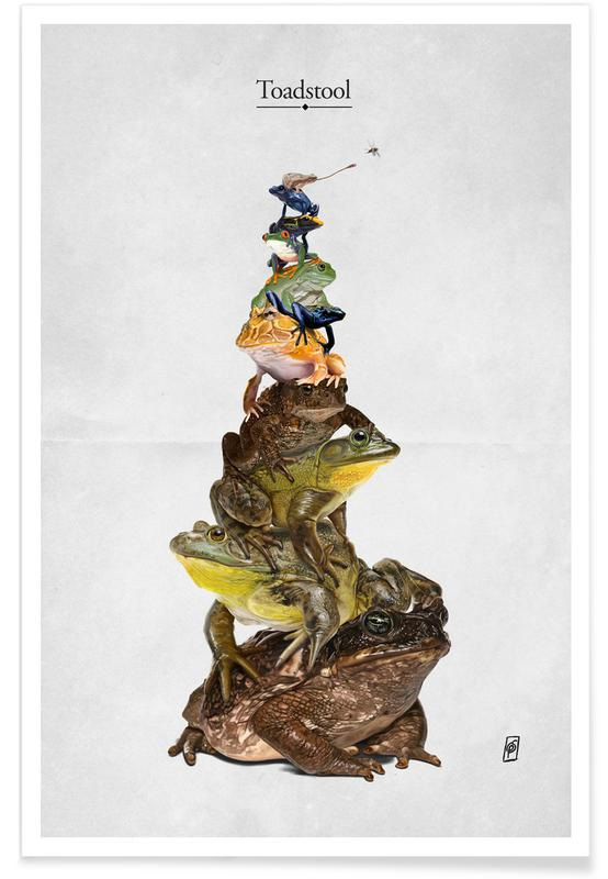 Grenouilles, Toadstool affiche