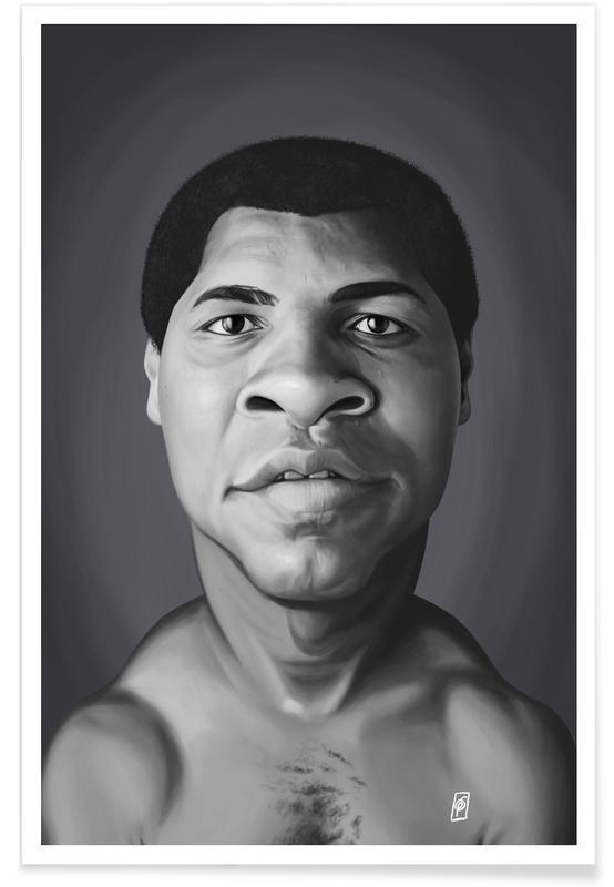 Noir & blanc, Mohamed Ali, Muhammad Ali affiche
