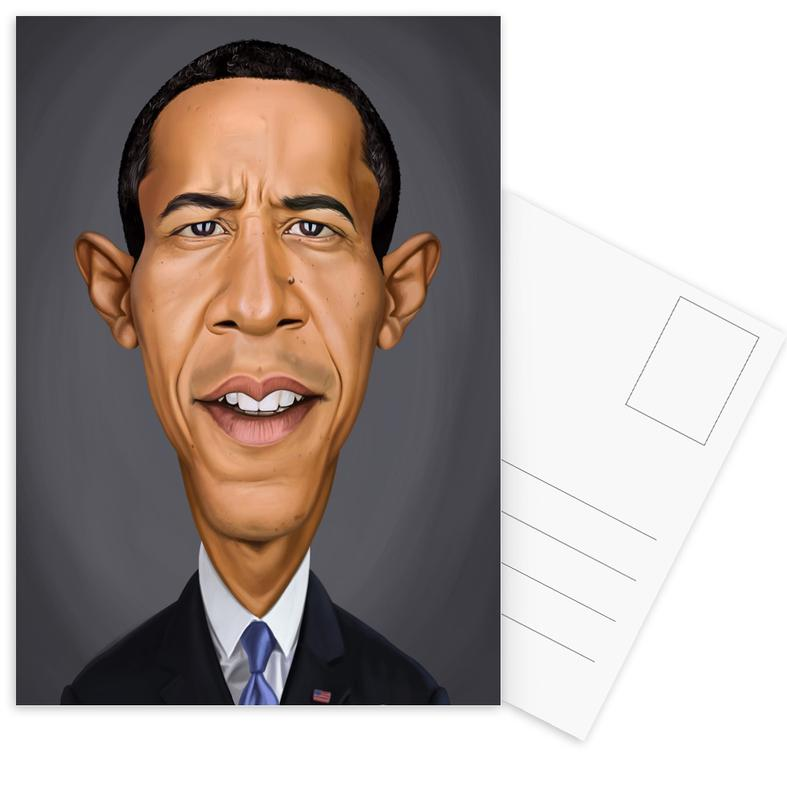Personnages politiques, Barrack Obama cartes postales