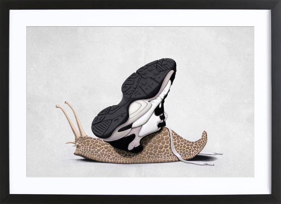 The sneaker Framed Print