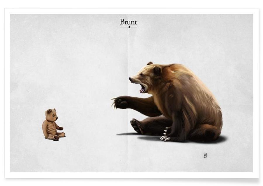 Ours, Brunt (titled) affiche