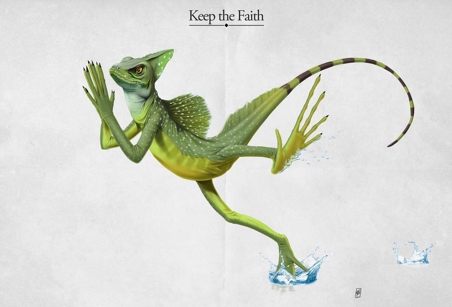 Keep the Faith (titled) Aluminium Print