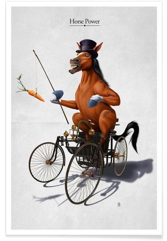 Chevaux, Horse Power (titled) affiche