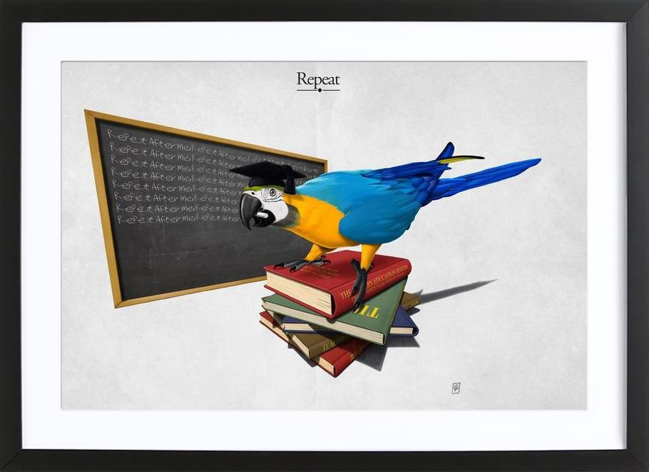 Repeat (titled) Framed Print