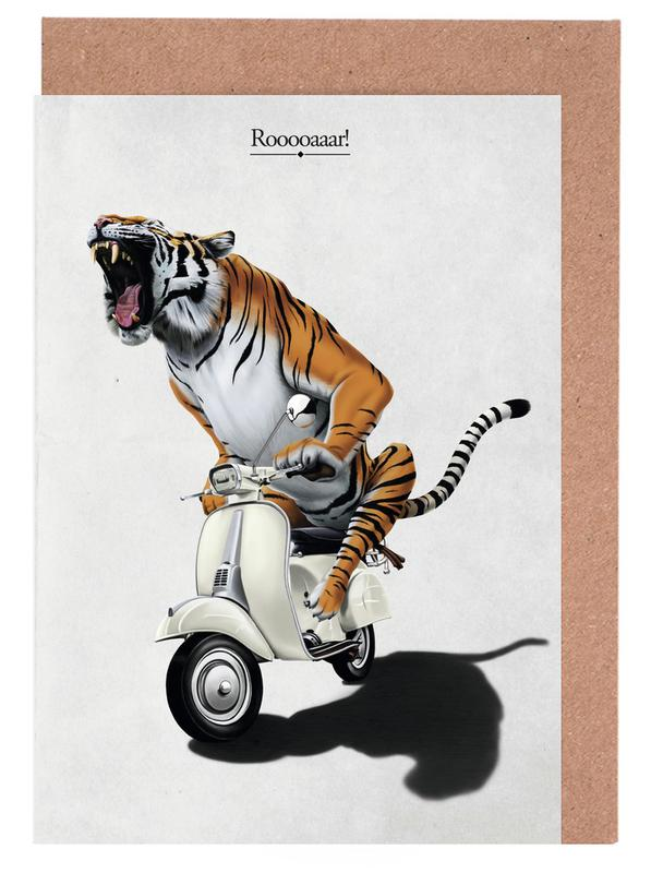 Rooooaaar! (titled) Greeting Card Set