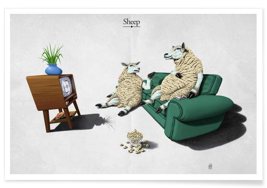 Sheep (titled) affiche