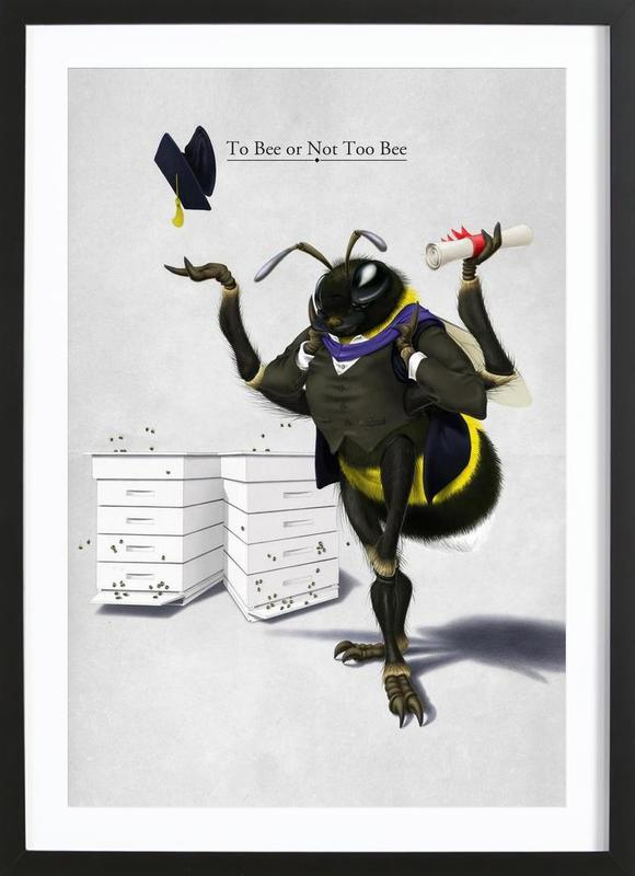 To bee or not to bee (titled) Framed Print