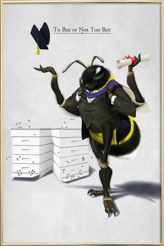 To bee or not to bee (titled) poster in aluminium lijst
