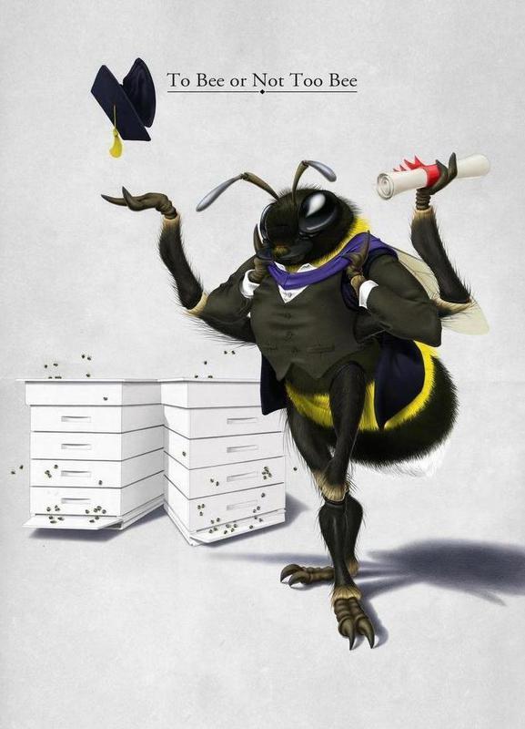 To bee or not to bee (titled) -Leinwandbild