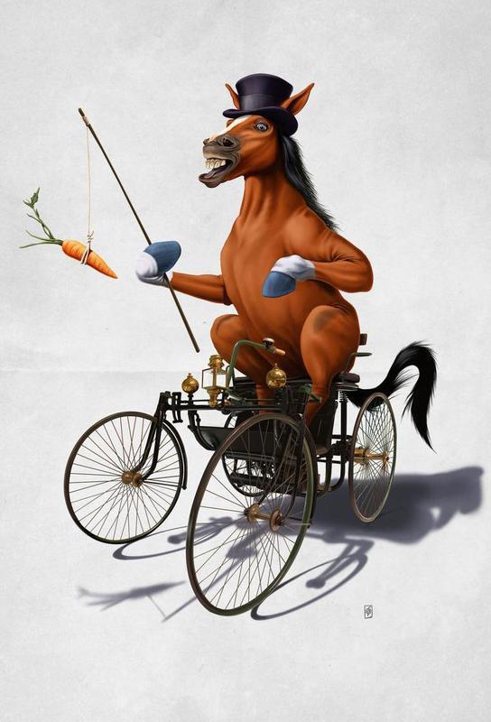 Horse Power acrylglas print