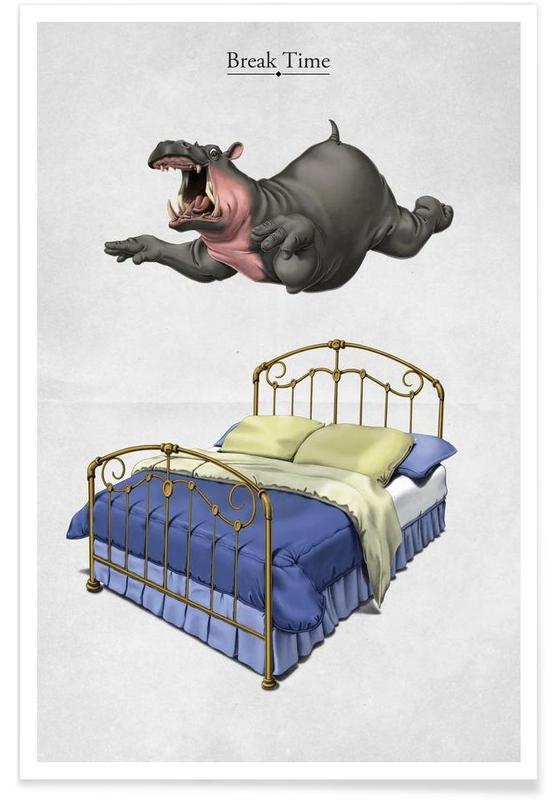 Hippopotames, Break Time (titled) affiche