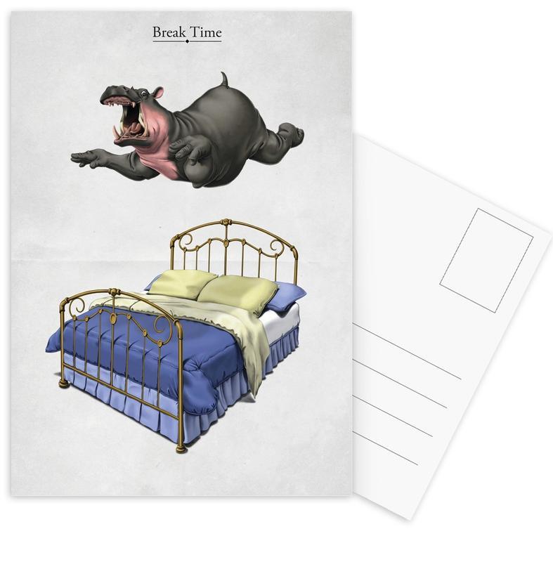 Nilpferde, Break Time (titled) -Postkartenset