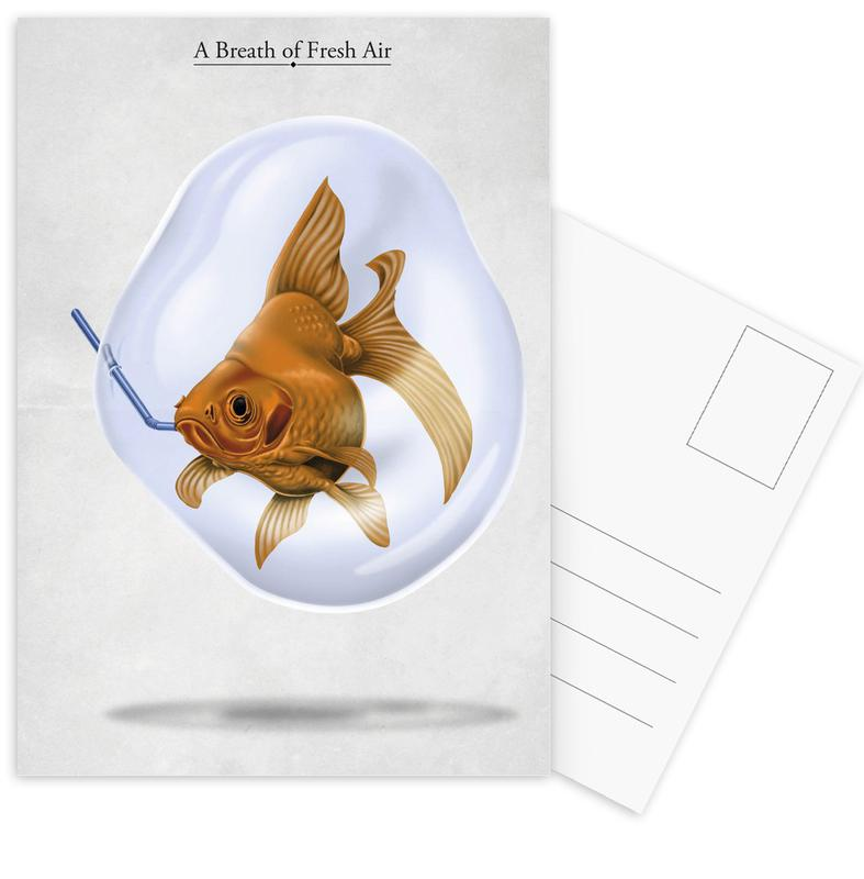 A breath of fresh air (titled) Postcard Set