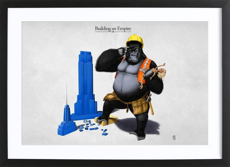 Building an empire (titled) Framed Print