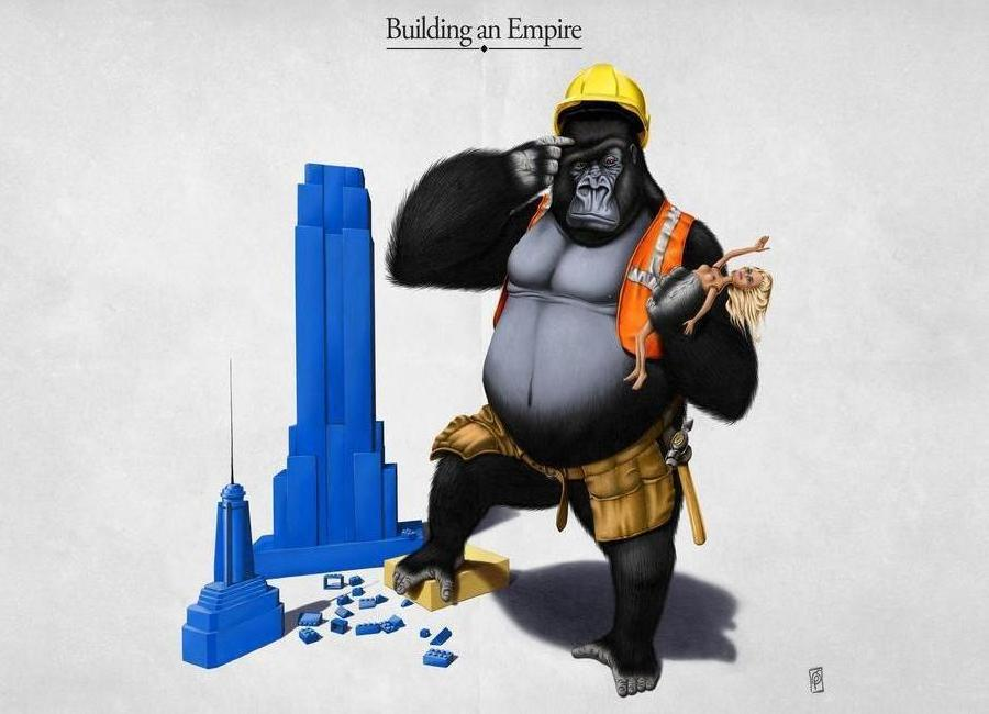 Building an empire (titled) Canvas Print