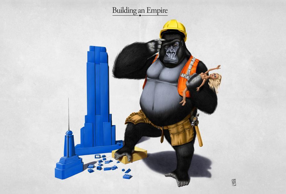 Building an empire (titled) Aluminium Print