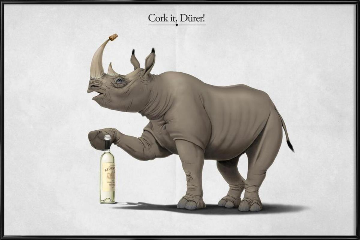 Cork it, Dürer! (titled) Framed Poster