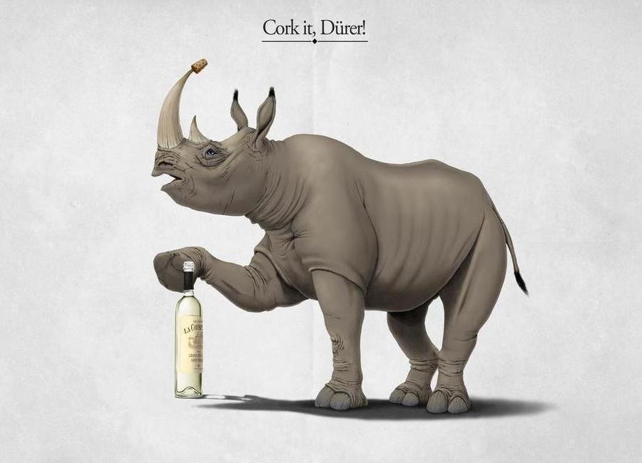 Cork it, Dürer! (titled) -Leinwandbild