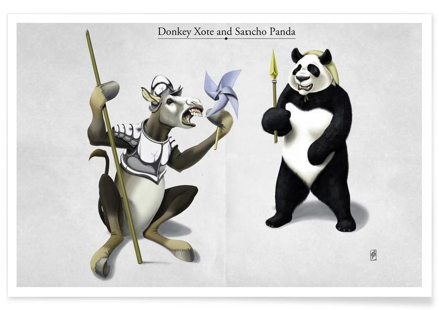, Donkey Xote Sancho Panda (titled) affiche