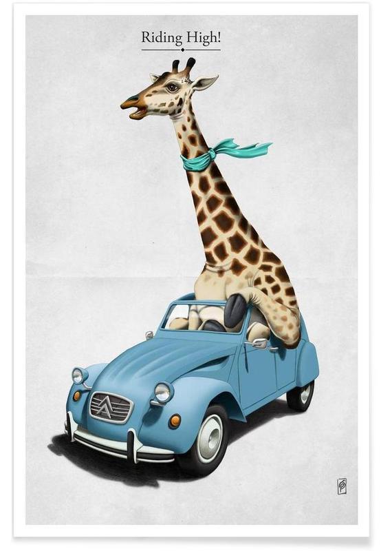 Girafes, Riding high (titled) affiche