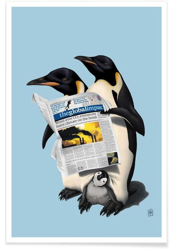 Pingouins, Read All Over (colored) affiche