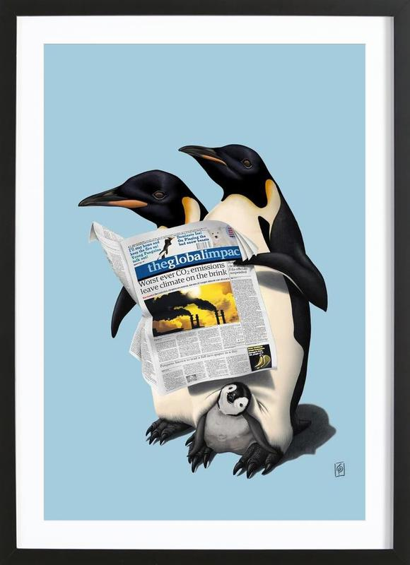 Read All Over (colored) Framed Print