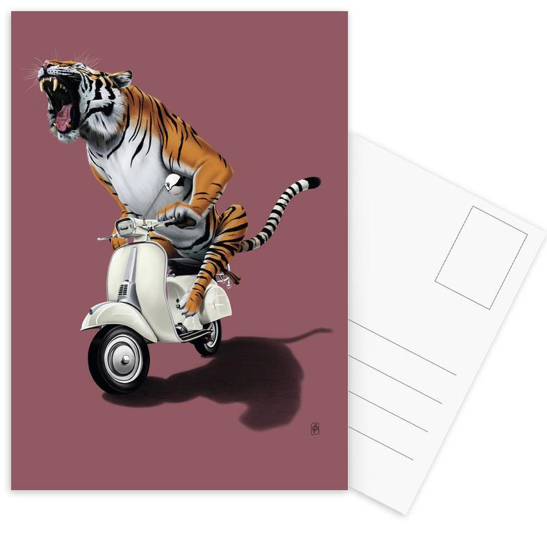 Rooooaaar! (colored) -Postkartenset