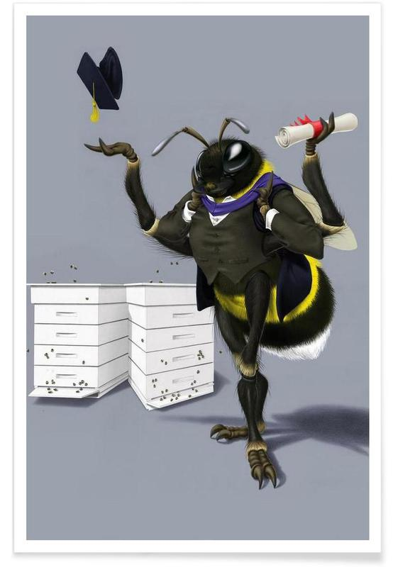 Bienen, To bee or not to bee (colored) -Poster